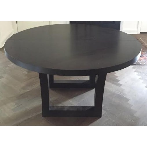 Extendable Dark Walnut Dining Table - Image 3 of 8