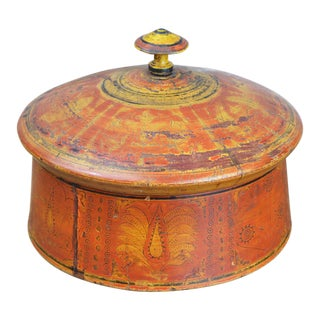 19th Century Decorated Afghan Spice Box For Sale