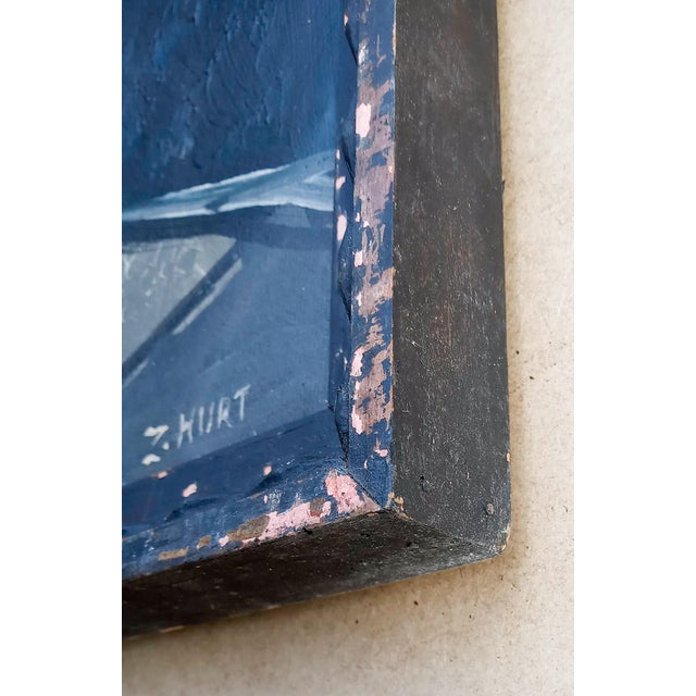 Mid 20th Century Mid 20th Century French Cubist Oil Painting, Framed For Sale - Image 5 of 8
