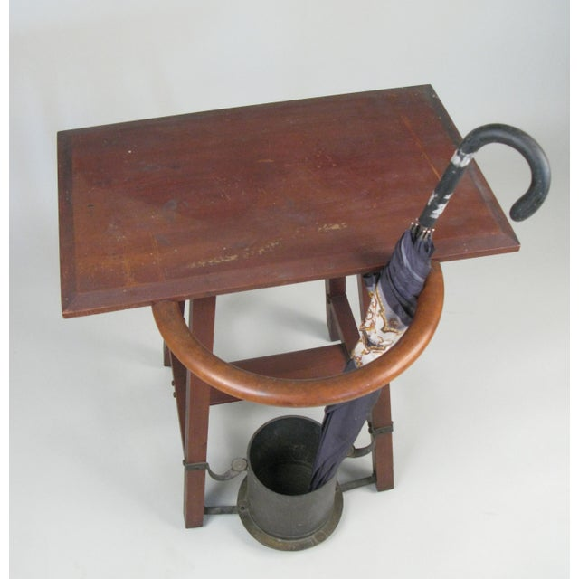Vintage Rustic 1940s Hall Table Umbrella Stand For Sale - Image 4 of 7