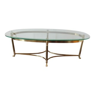 Vintage La Barge Brass Coffee Table For Sale