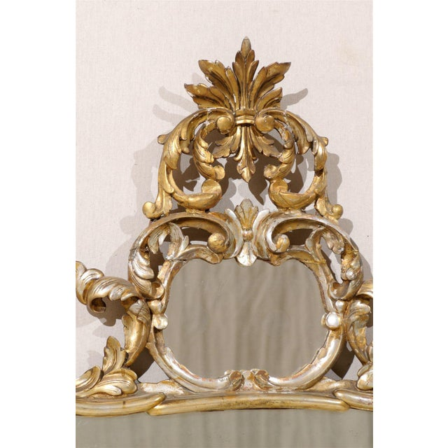 Early 20th Century Italian Gold and Silver Gilt Mirror For Sale In Atlanta - Image 6 of 11