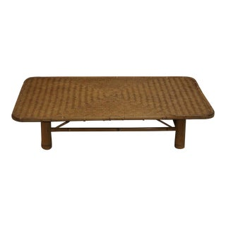 1920s Japanese Bamboo Coffee Table For Sale
