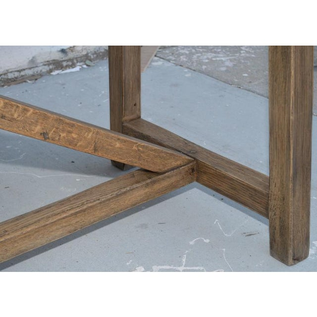 Rustic Extendable Dining Table in Vintage Oak For Sale In Los Angeles - Image 6 of 11