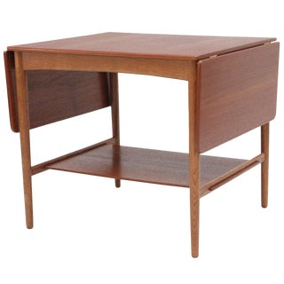 Hans Wegner Drop Leaf Side Table For Sale