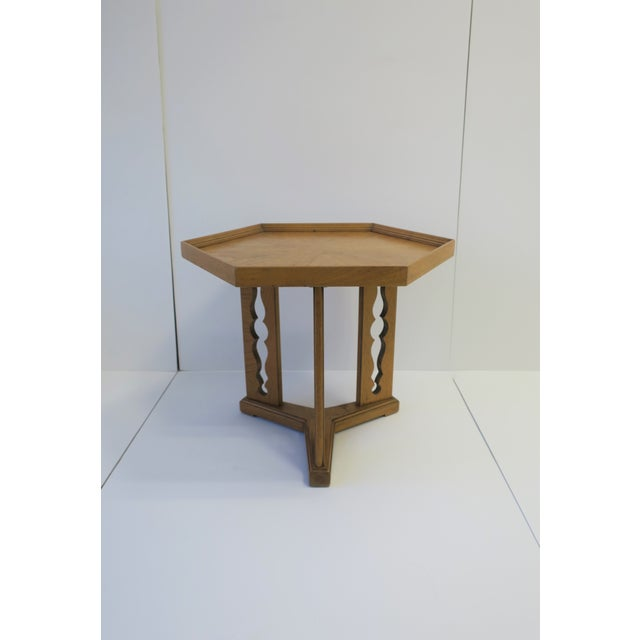 Late 20th Century Hexagon Wood Side or End Table Esperanto by Drexel For Sale - Image 5 of 13