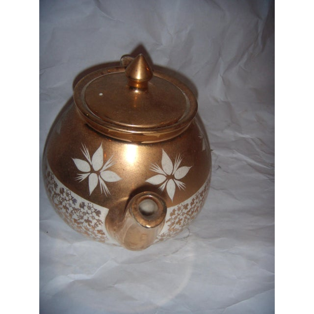 White & Gold China Teapot For Sale In New York - Image 6 of 8