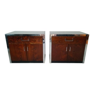 1960s Vintage Milo Baughman Rosewood Nightstands For Sale