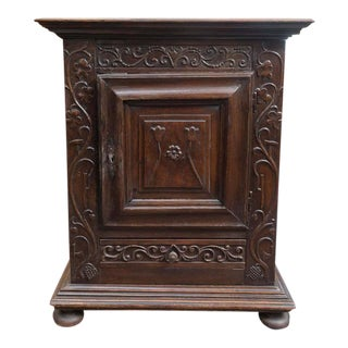French Carved front Oak Commodini circa 1720 For Sale
