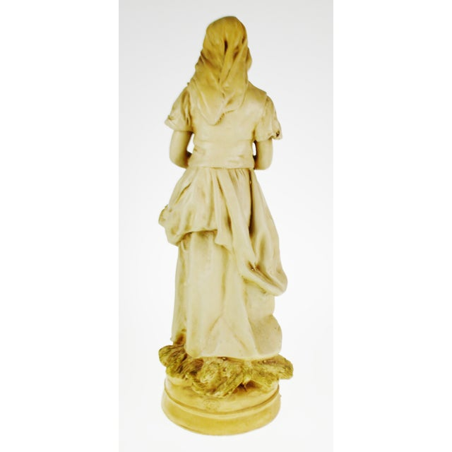 Marwal Ind. Inc. Vintage L'Angelus Chalkware Statue For Sale - Image 5 of 10