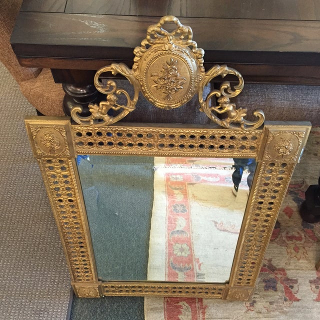 Gilded French Iron Mirrors - A Pair - Image 9 of 10