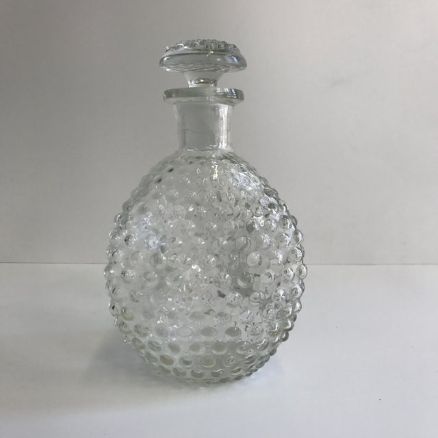 Hand Blown Hobnail Glass Decanter - Image 4 of 6