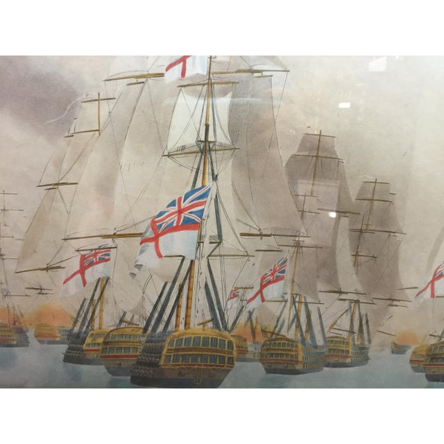 Battle of Trafalgar Lithograph Nautical For Sale - Image 4 of 5