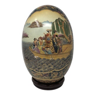 "Vintage 16"" Satsuma Royal Egg For Sale"