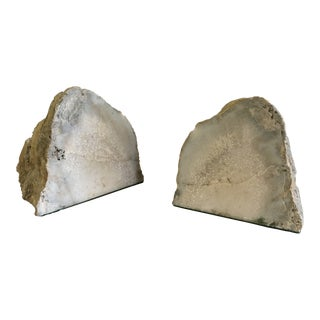 Pair of Petite Geode Bookends For Sale