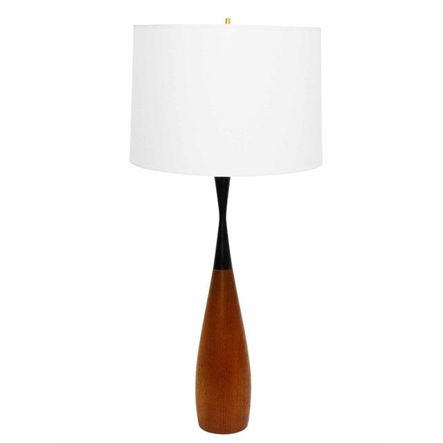 Danish Sculptural Teak Table Lamp - Image 7 of 7