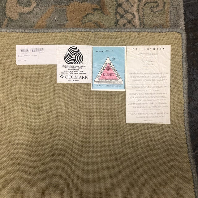 "Pottery Barn Hand-Tufted Wool ""Darby"" Slate Blue Area Rug - 5' x 8' For Sale In San Francisco - Image 6 of 9"