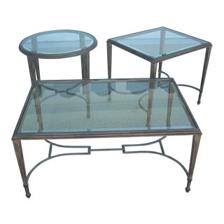 Traditional San Giovese Occasional Tables - Set of 3 For Sale