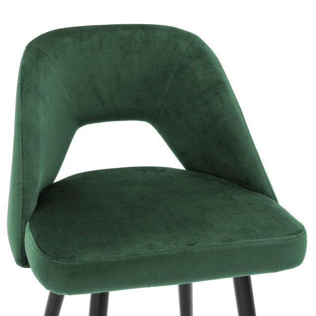 Not Yet Made - Made To Order Green Velvet Bar Stool | Eichholtz Avorio For Sale - Image 5 of 9