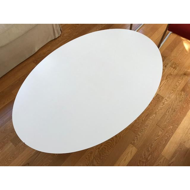 Vintage Eero Saarinen Knoll Oval Tulip Coffee Table - Image 3 of 4