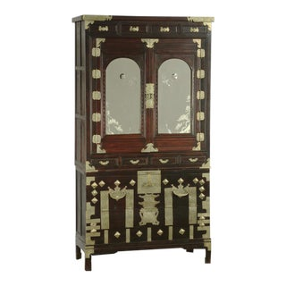 Mirrored Korean Cabinet For Sale