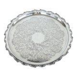 """Image of Webster & Wilcox International Silver-Plated """"Joanne"""" Serving Tray For Sale"""