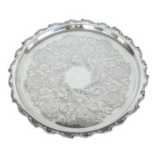 "Webster & Wilcox International Silver-Plated ""Joanne"" Serving Tray For Sale"