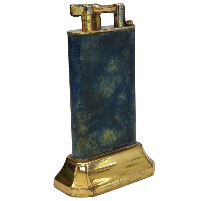 Aged Lift Arm Table Lighter by Dunhill - Image 1 of 9