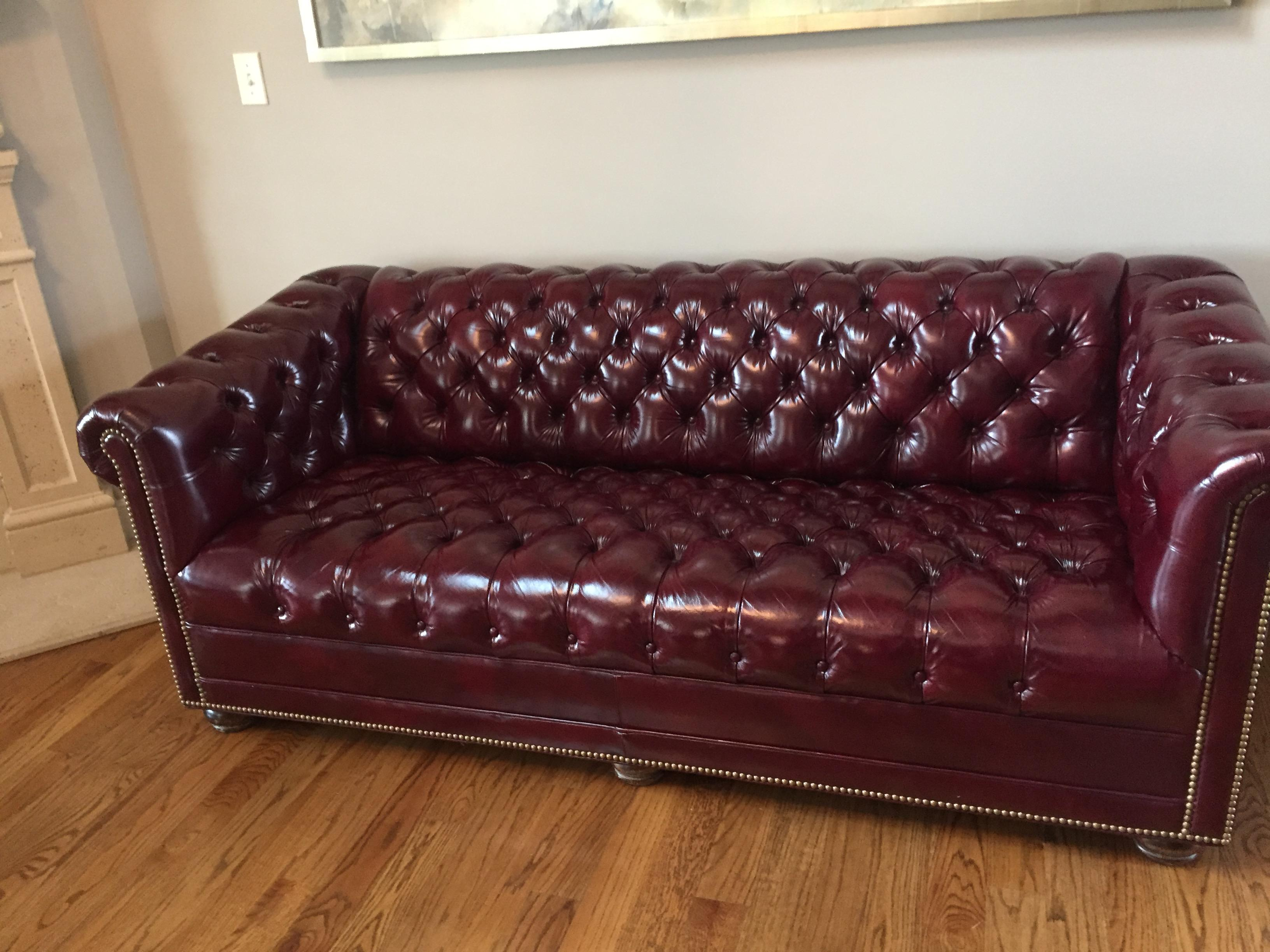 Hancock Moore Chesterfield Sofa Chairish
