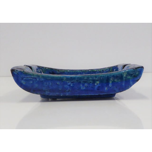 1960s 1960s Aldo Londi for Bitossi Italian Modern Rimini Blue Small Ashtray For Sale - Image 5 of 7