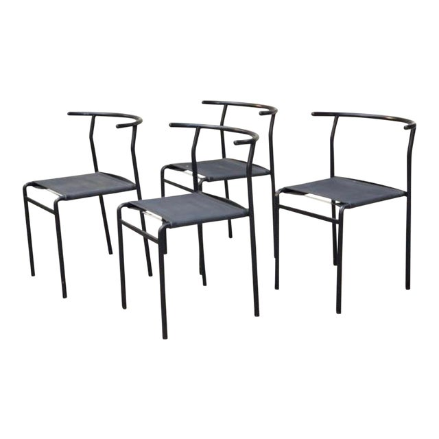 1980s Vintage Modern Philippe Starck Cafe Chairs- Set of 4 For Sale