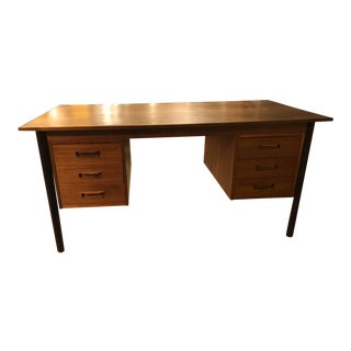 Danish Teak Executive Desk by Eghoff Randers For Sale