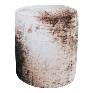 C'est Beau1872 Mocha Crinkle Velvet Stool For Sale