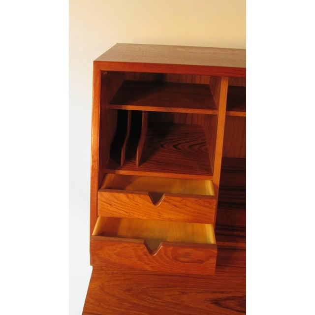 1960s Danish Modern Drop Front Desk For Sale In Portland, ME - Image 6 of 13