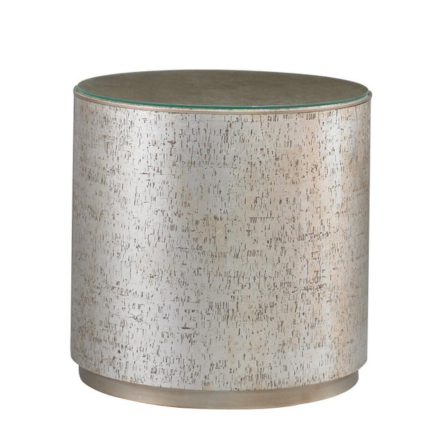 Modern Cork Drum Side Table from Kenneth Ludwig Chicago For Sale - Image 3 of 3