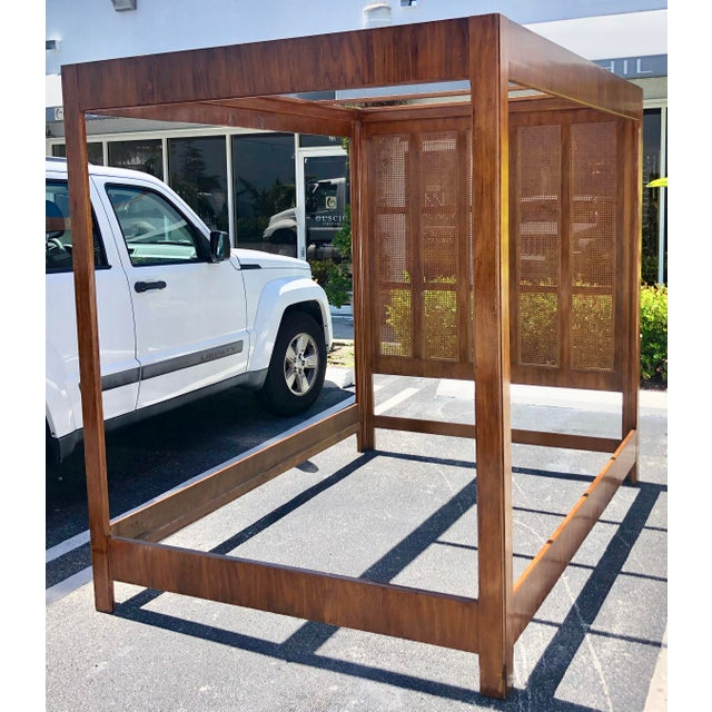 Mid-Century Modern Queen Size Canopy Bed by Drexel Heritage For Sale - Image 3 of 6