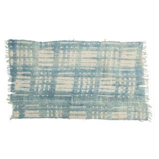 Vintage Batik Indigo African Textile Throw For Sale