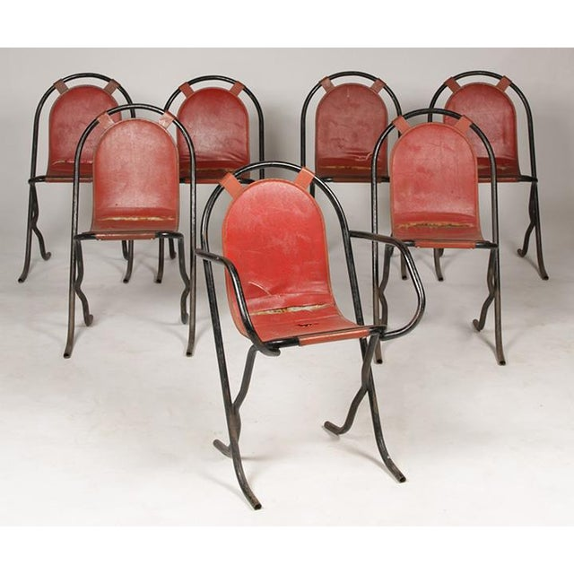 1930s French Wrought Iron Cafe Chairs For Sale - Image 5 of 5