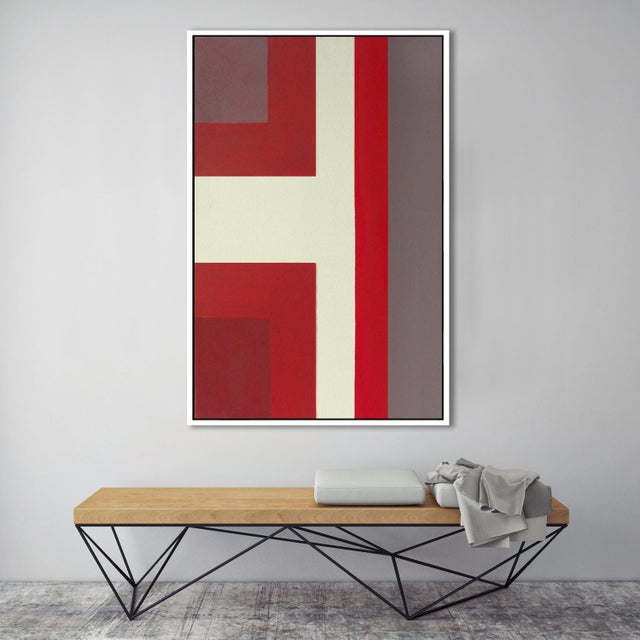 """Abstract """"Abstract Ron Burgundy No. 1"""" Framed Fine Art Giclée Print For Sale - Image 3 of 3"""