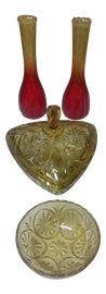 Image of Amber Decorative Bowls