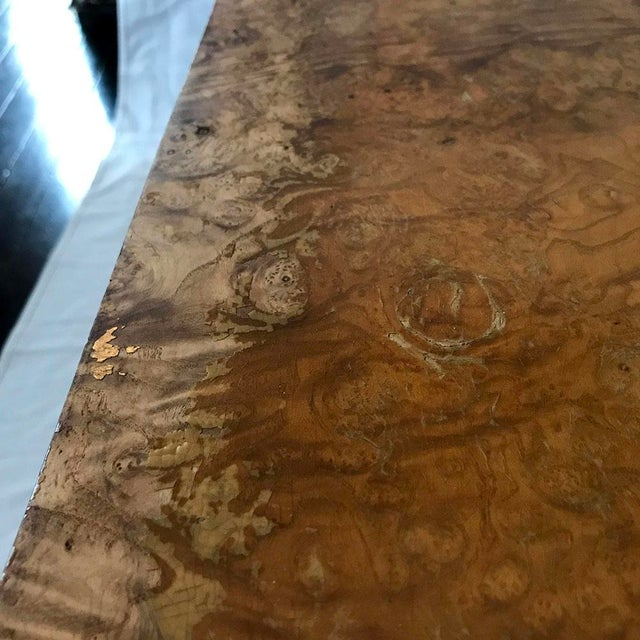 1970s Mid-Century Modern Burl Wood Square Coffee Table For Sale - Image 10 of 13
