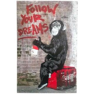 """Mr. Brainwash """" Follow Your Dreams """" Authentic Lithograph Print Pop Art Poster For Sale"""