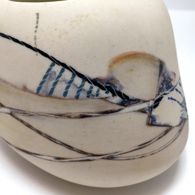 Late 20th Century Fine Art Contemporary Ceramic Vessel - Image 12 of 13