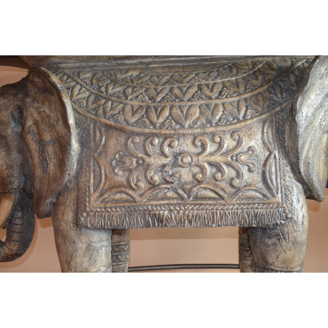 Asian 1990s Asian Modern Elephant Bar Table For Sale - Image 3 of 5