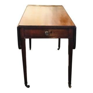 19th Century English Drop Leaf Table For Sale
