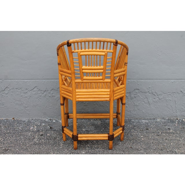 Vintage Palm Beach Regency Rattan Armchair For Sale In Miami - Image 6 of 11