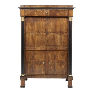 Italian Walnut Secretaire Abbant For Sale