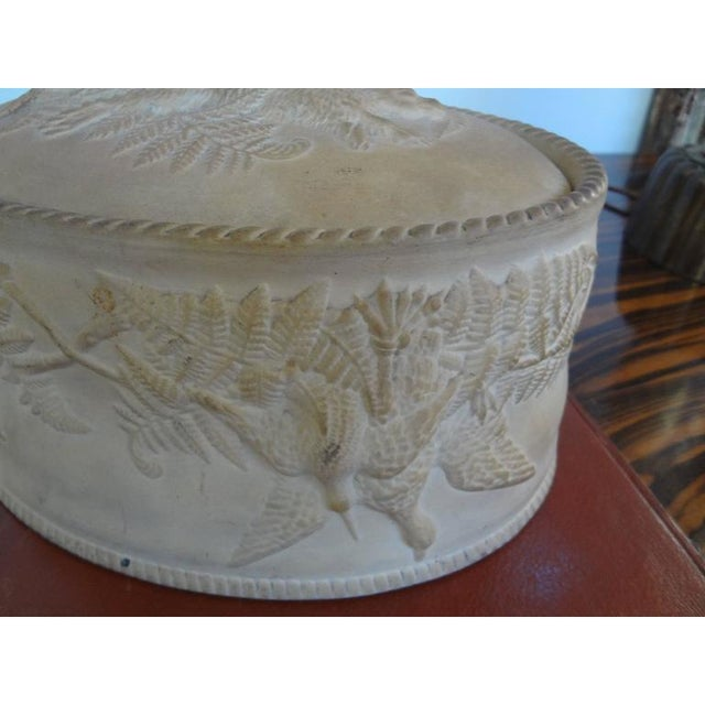Antique French Caneware Game Pie Dish For Sale - Image 9 of 11