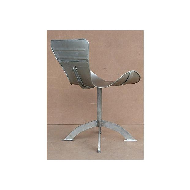 Artist-Sculpted Industrial Aluminum Chair - Image 4 of 9