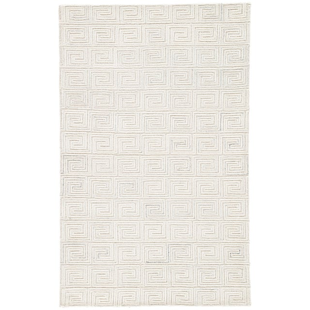Jaipur Living Harkness Handmade Geometric White/ Gray Area Rug - 8′ × 11′ For Sale In Atlanta - Image 6 of 6